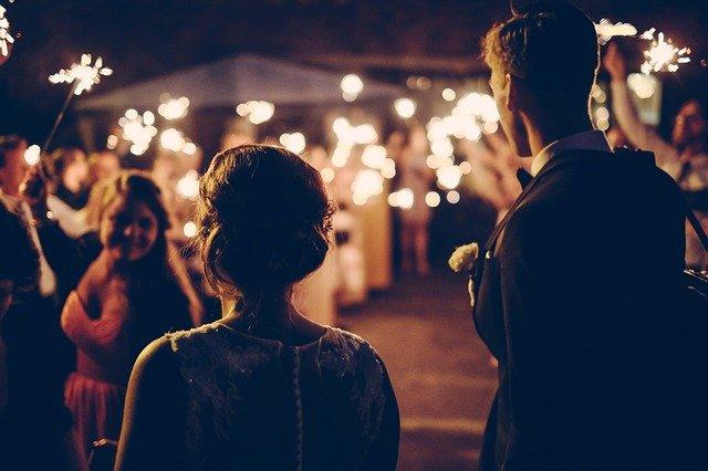 oslava na svatbě