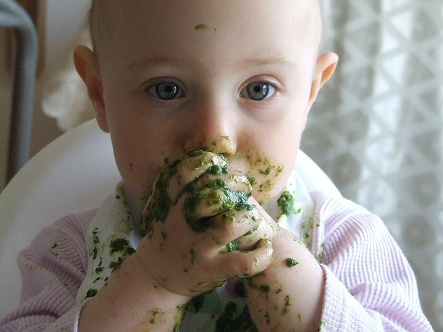 dítě od špenátu