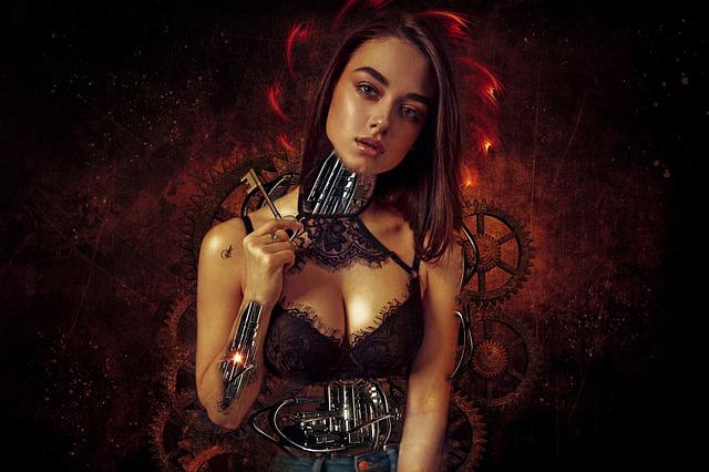 dívka s klíčem