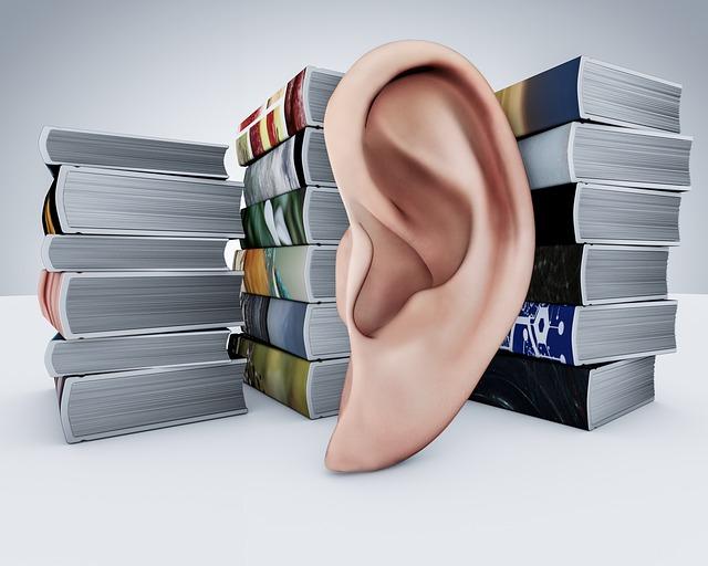 audioknihy a ucho
